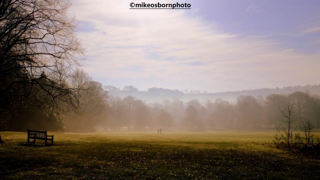 Misty field at Yorkshire Sculpture Park