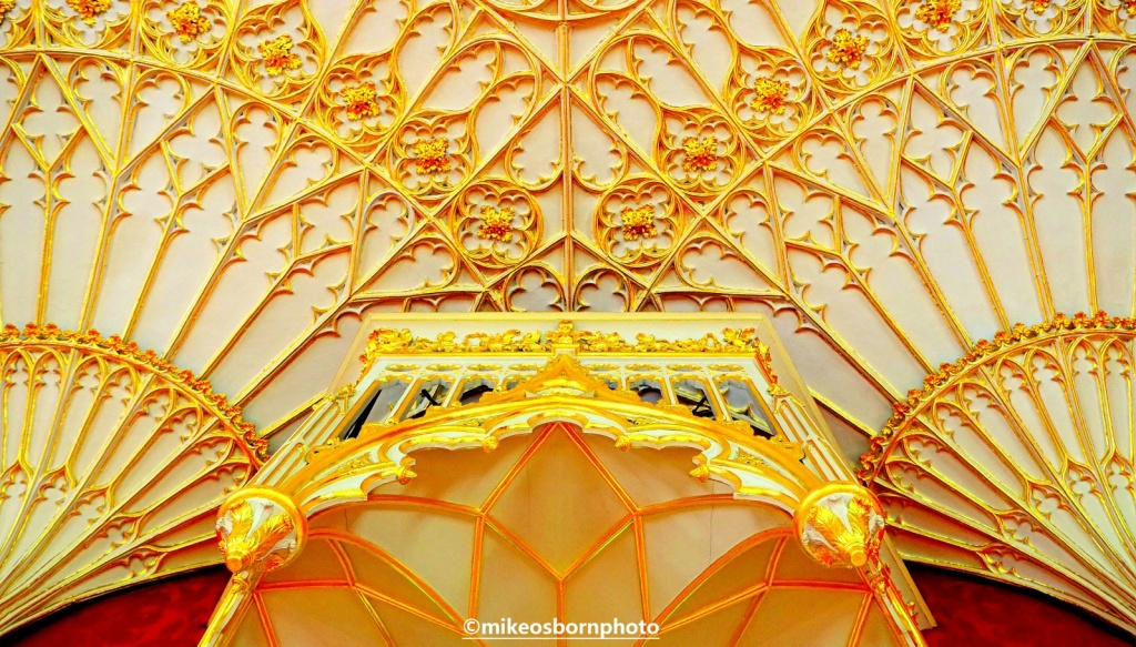 Golden interior, Strawberry Hill House, London