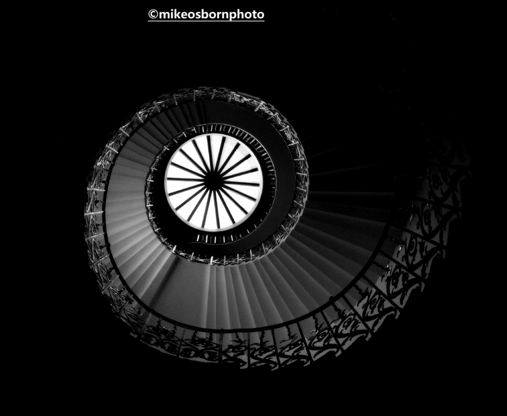 Circular staircase, Queen's House, Greenwich, London