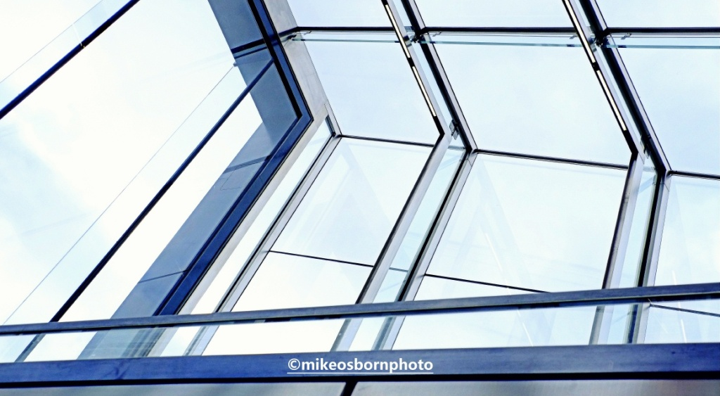 Glass roof at Tottenham Court Road station, London
