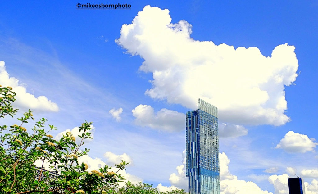 Summer scene over Beetham Tower, Manchester