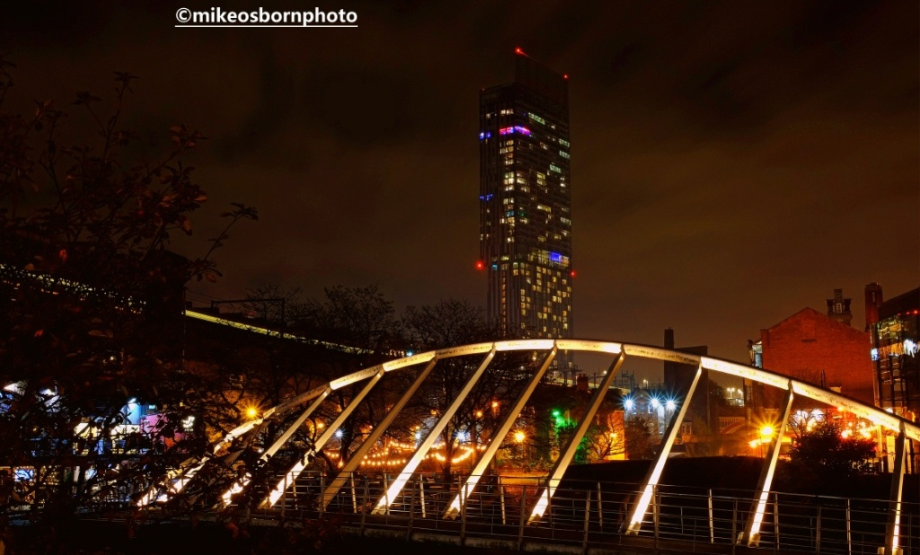 Beetham Tower and Castlefield at night