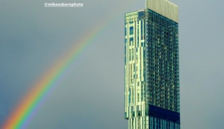 Rainbow and Beetham Tower, Manchester