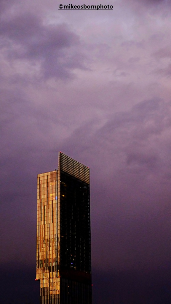 Beetham Tower, Manchester at dusk