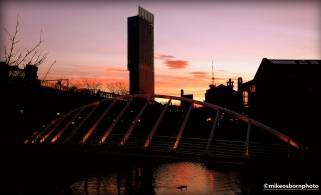 Sunrise over Castlefield and Beetham Tower, Manchester