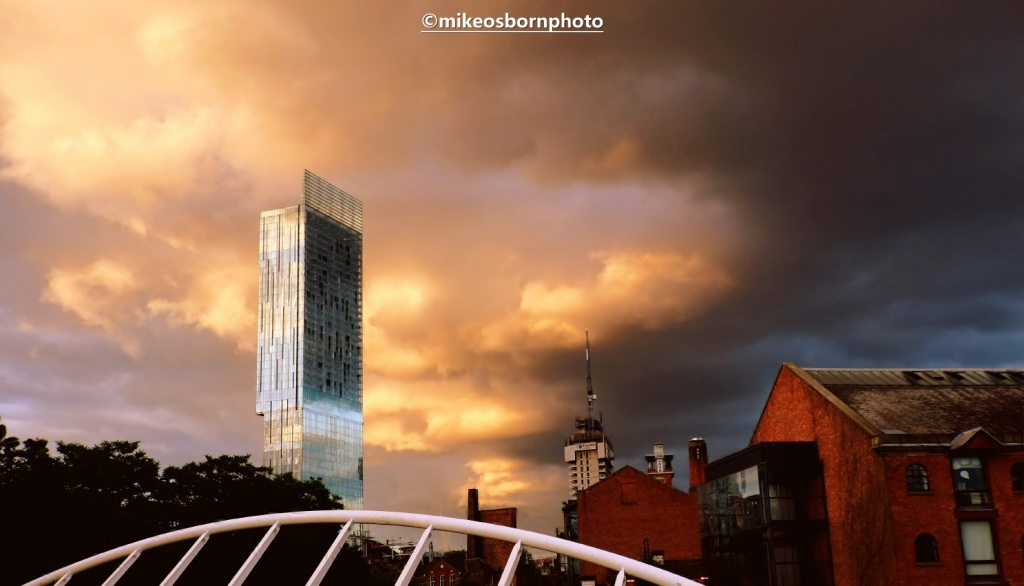 Storm clouds over Castlefield and Beetham Tower, Manchester
