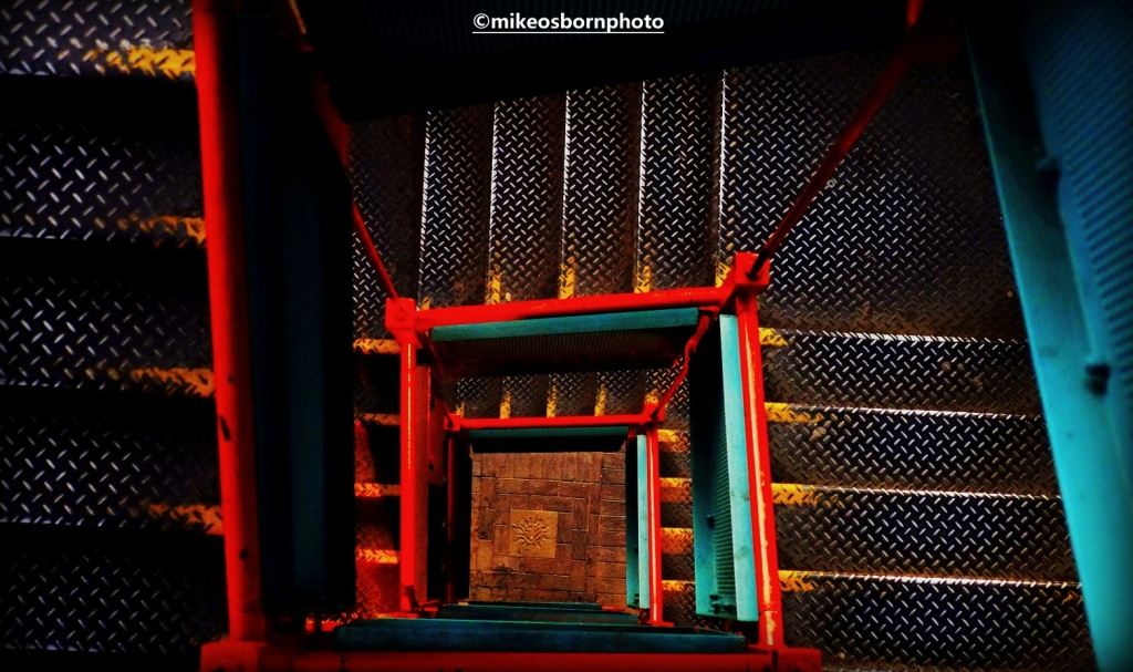 Iron staircase at Castlefield, Manchester
