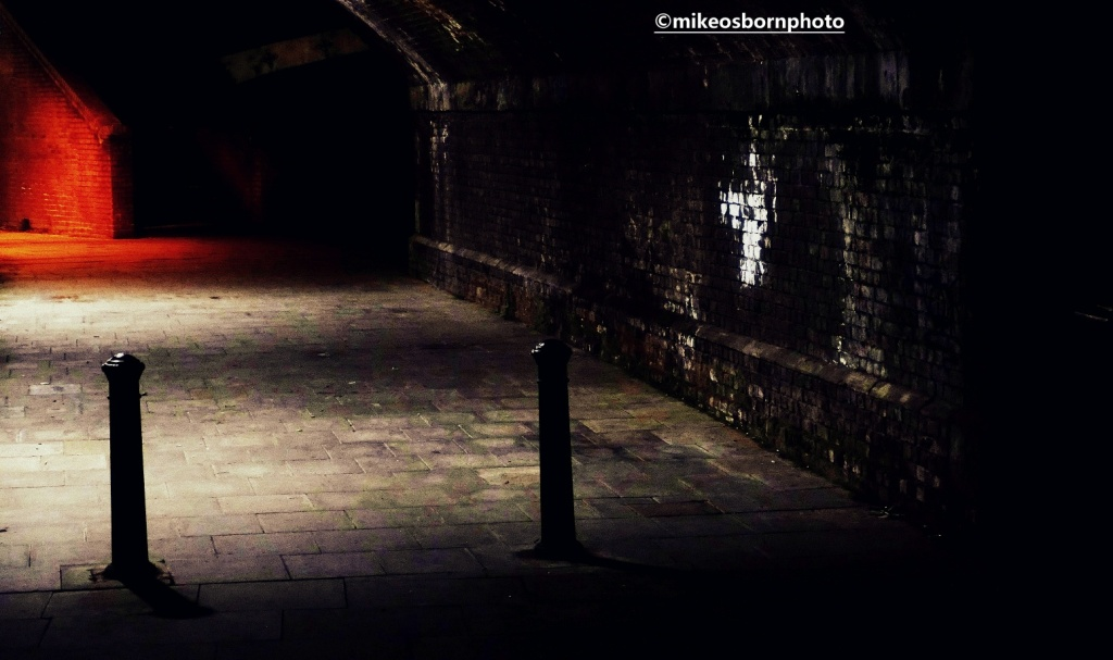 Canalside paths in Manchester after dark