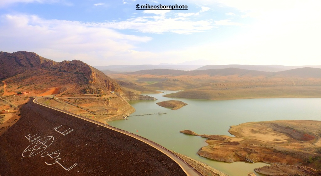 View of Youssef Ibn Tachfine Dam, Morocco
