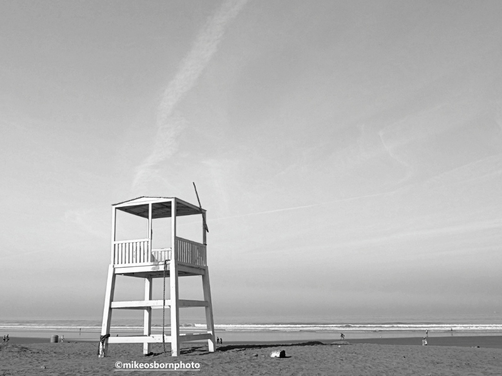 Lifeguard lookout tower on Agadir beach, Morocco