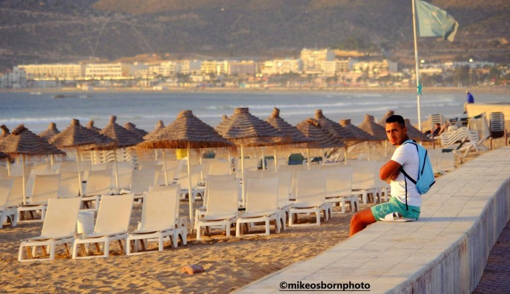Young Moroccan man on Agadir promenade, Morocco