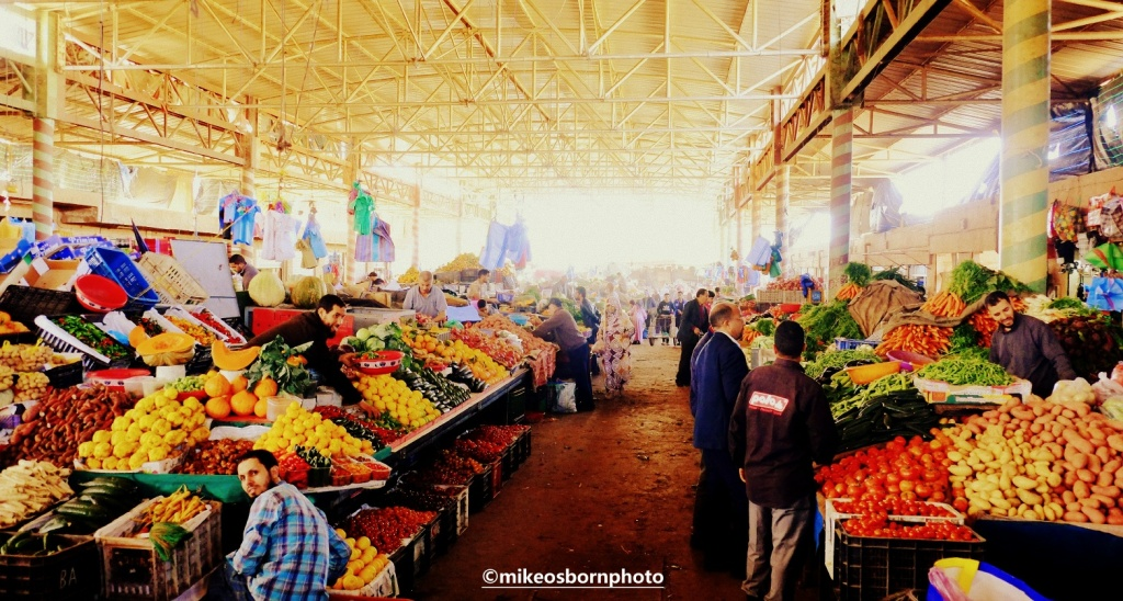 The fresh produce souk in Agadir, Morocco