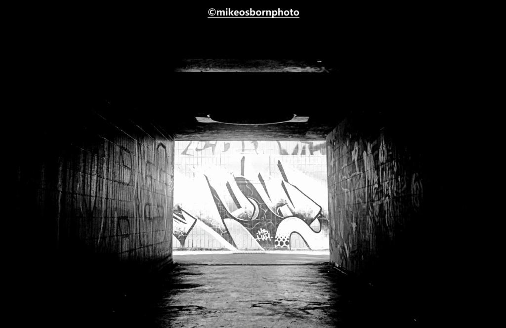 Graffiti on underpass near Hulme, Manchester