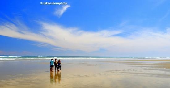 Visitors on Ninety Mile Beach, New Zealand