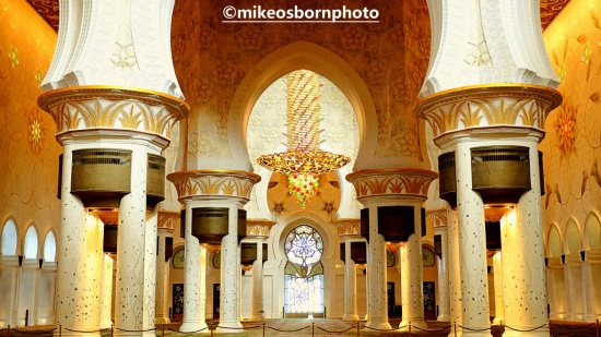 Interior of Sheik Zayed Grand Mosque, Abu Dhabi