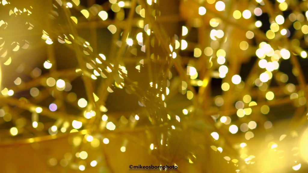 Golden bokeh Christmas lights