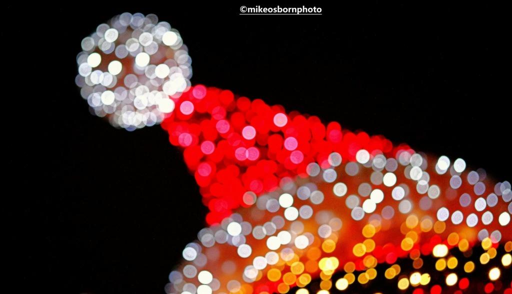 Santa lights bokeh