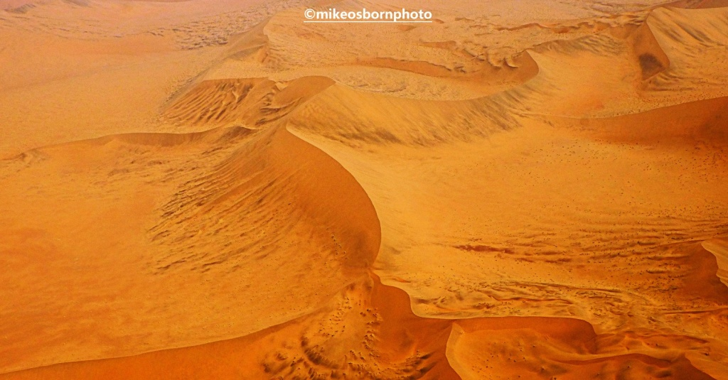 Namib Desert sands seen from the air