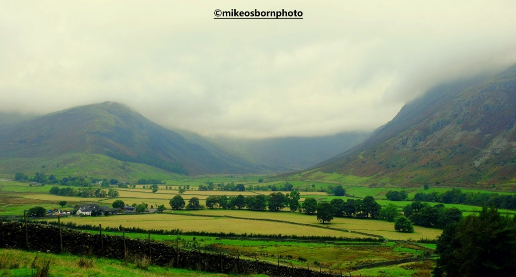 View of Langdale Valley in the Lake District