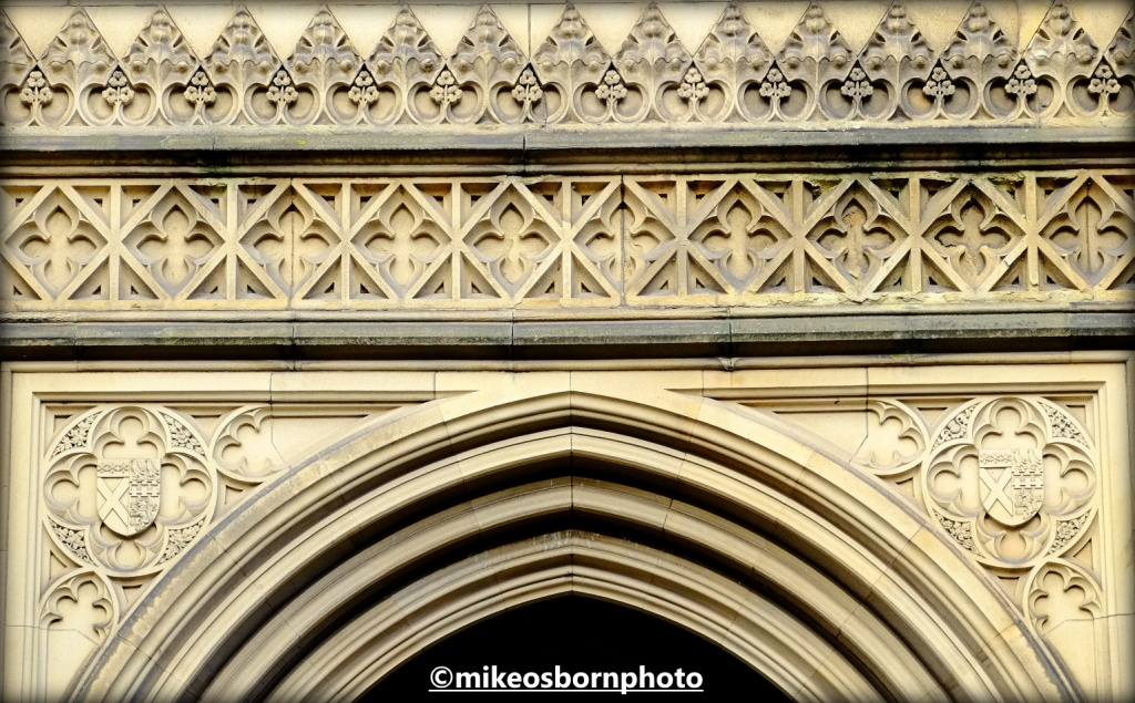 Detail of main door, Manchester Cathedral