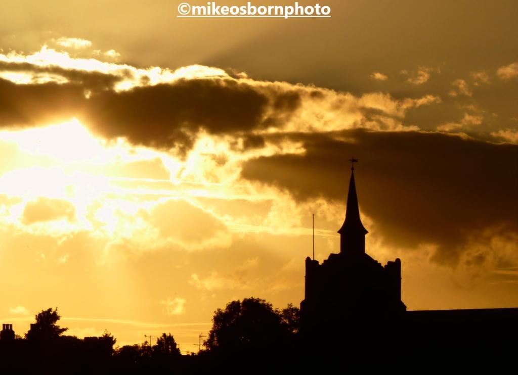 Golden sunset at Maldon, Essex, UK