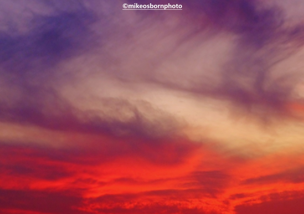Sunset skies over Agadir, Morocco