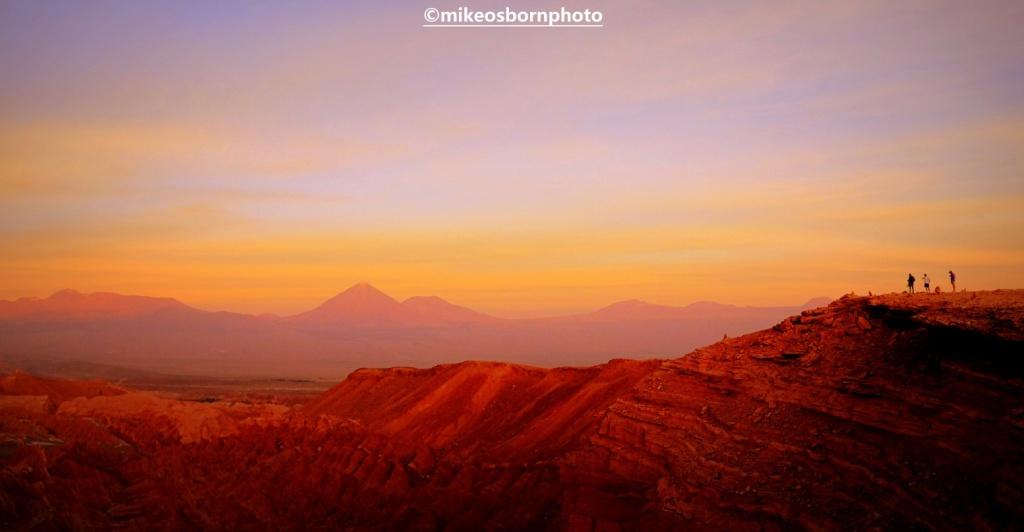 Sundown in Chile's Atacama Desert