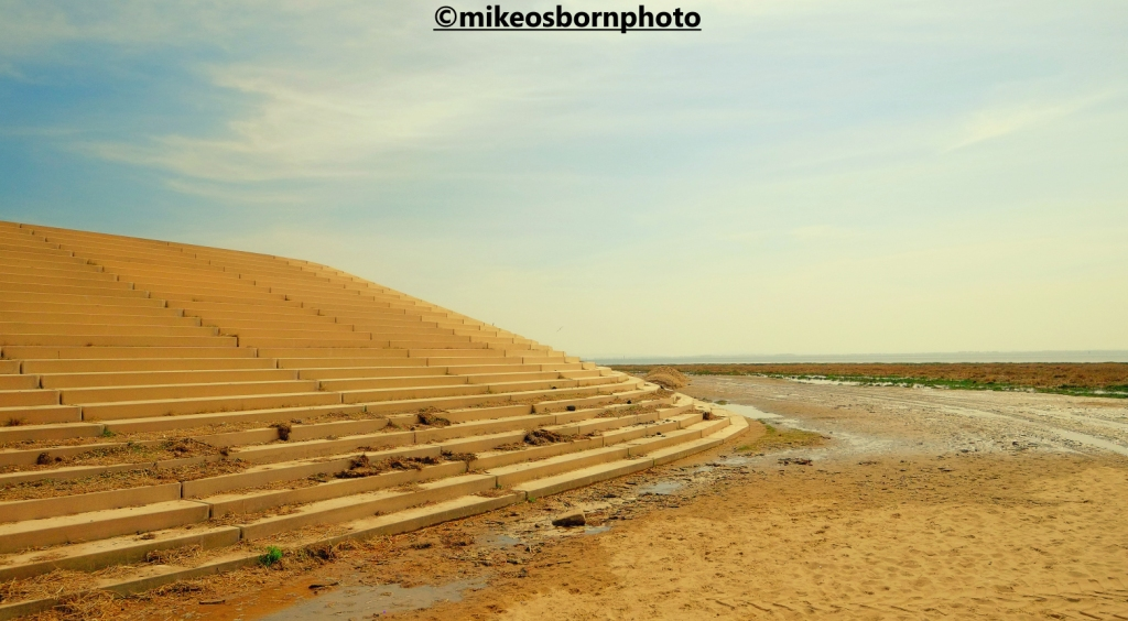 The sea wall and beach at Lytham St Anne's