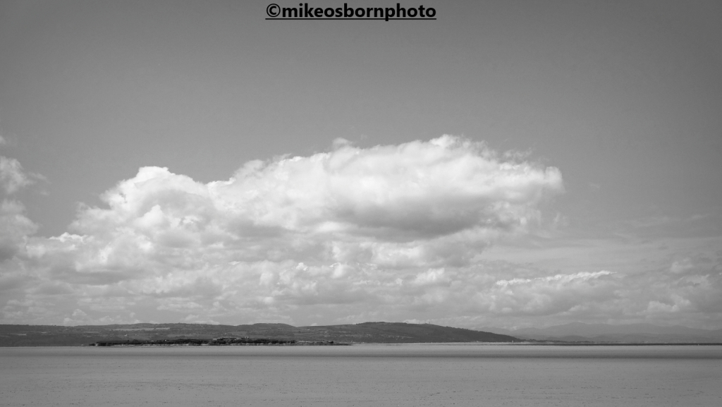 View of north Wales from Hoylake beach, Wirral