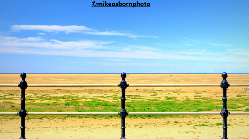 Hoylake beach seen from the Wirral town's promenade