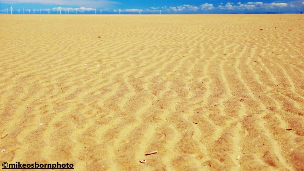 Sahara-like sand on Hoylake Beach at low tide