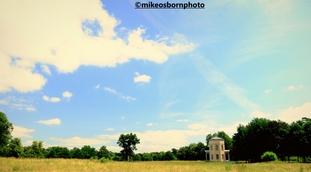 Three Winds folly in landscape of Staffordshire's Shugborough Hall