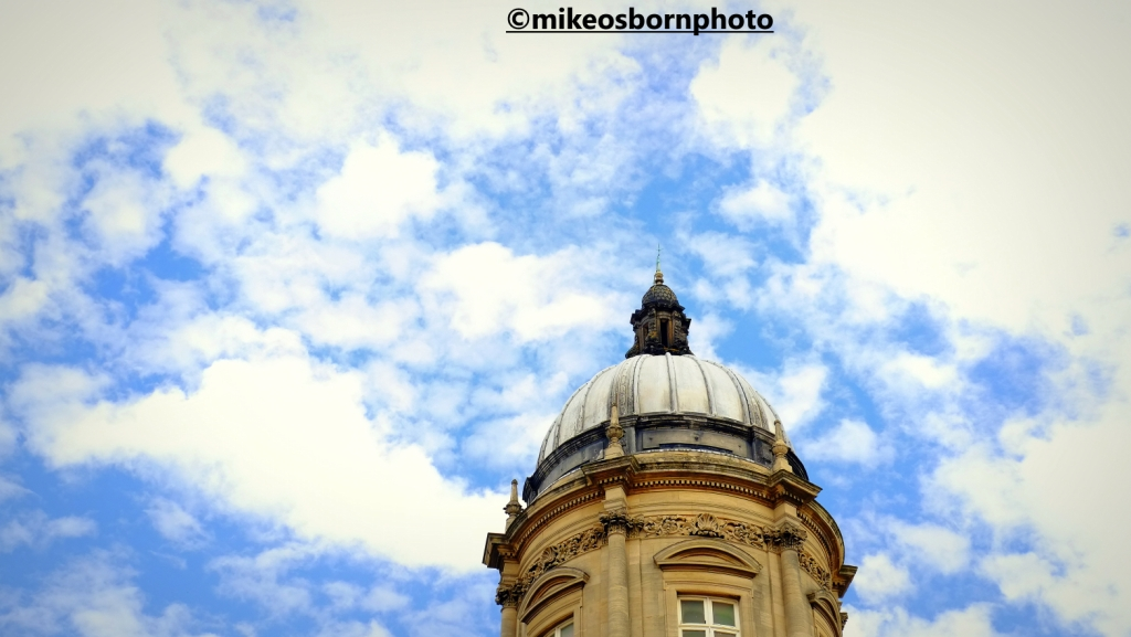 Grand dome of Victorian civic building in Hull