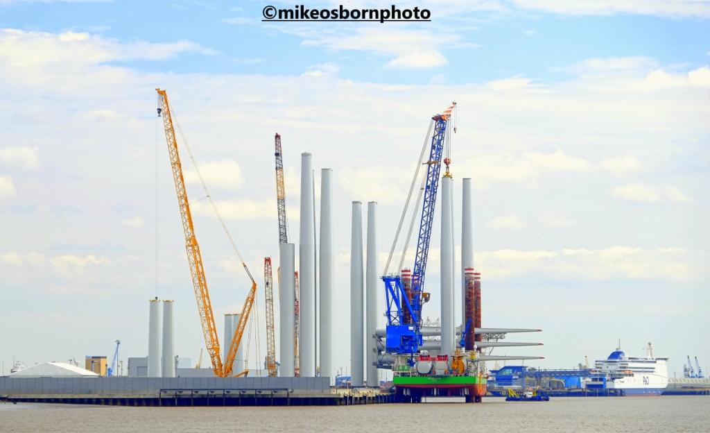 Industrial chimneys at the port of Hull