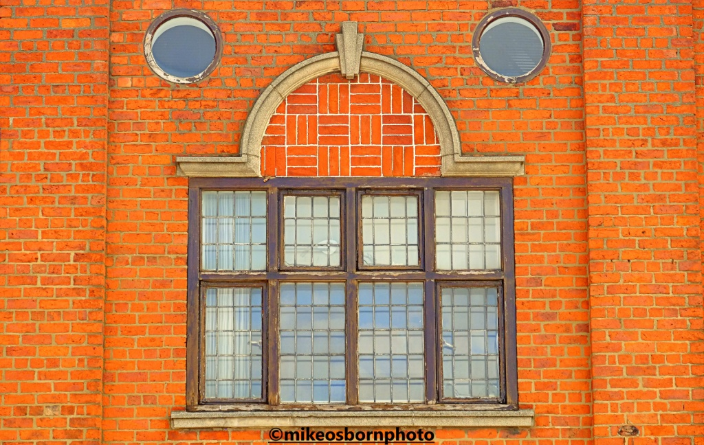 Old red brick facade in Hull