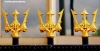 Golden trident railings in the old civic centre of Hull