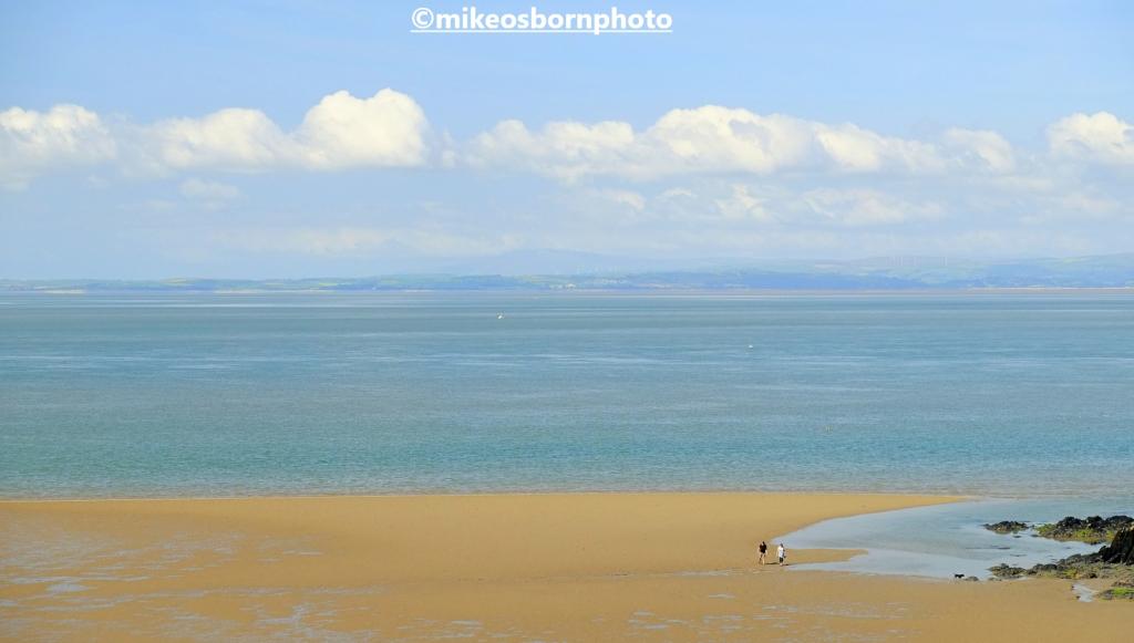 A beach at Heysham on Morecambe Bay, Lancashire