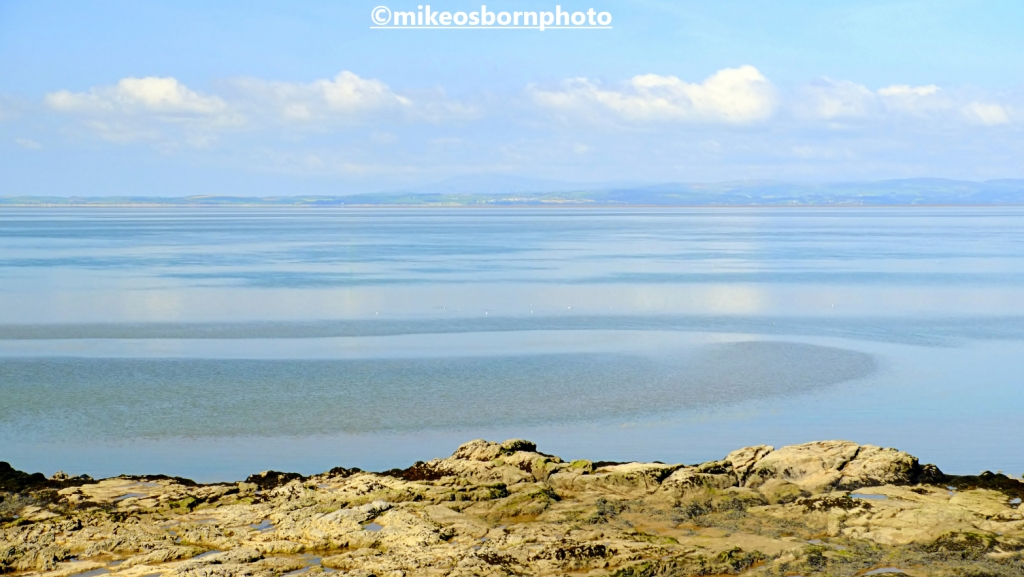 A view of Morecambe Bay and Cumbria from Heysham, Lancashire