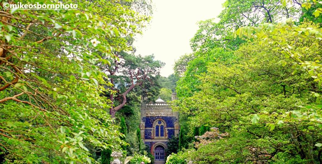 The chapel in the trees at Bodnant Garden, Wales