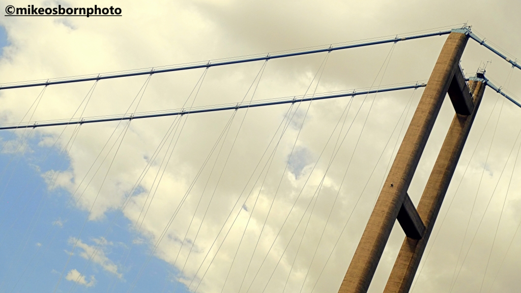 A section of the Humber suspension bridge