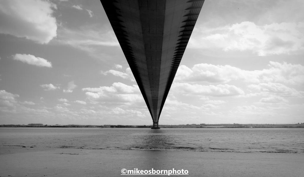 The underside of the Humber Bridge