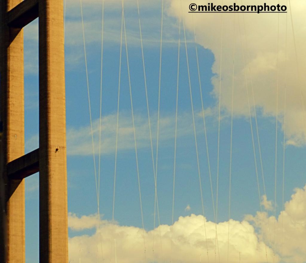 Delicate suspension struts of the Humber Bridge