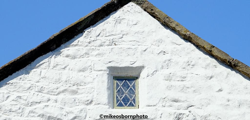 A whitewashed cottage at Heysham village, Lancashire