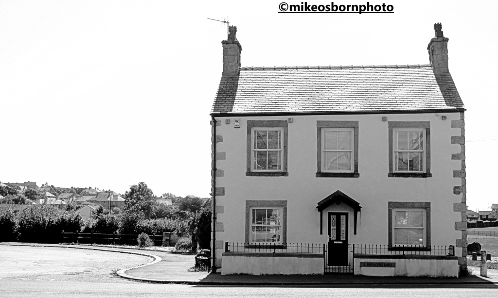 A white house in Heysham village, Lancashire
